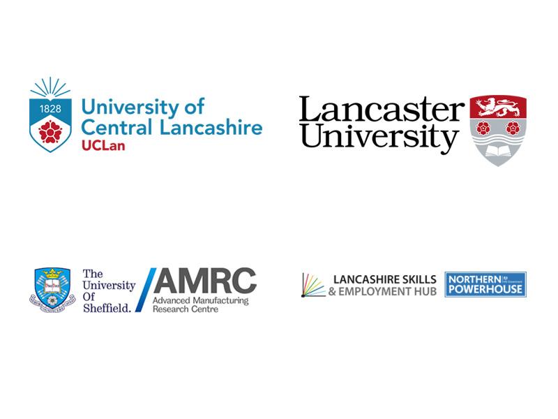UCLAN logo Lancashire University Logo Sheffield university logo